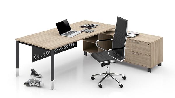 现代简约单人钢木老板经理主管办公桌椅办公台写字台大班台价格批发