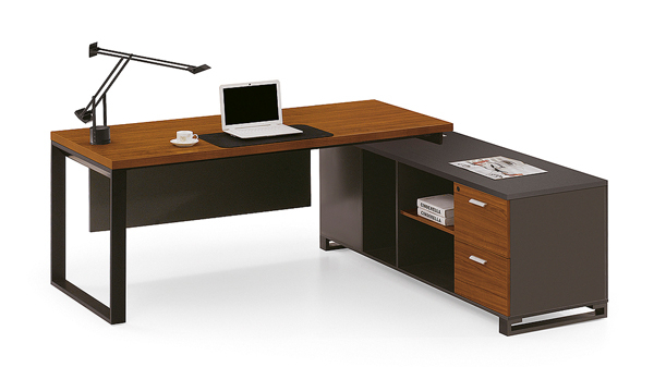 新中式钢木老板办公桌大班台
