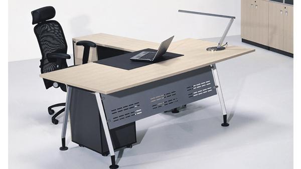 现代时尚简约单人钢木老板经理办公桌椅办公台大班台写字台厂家直销