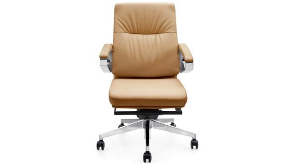 现代时尚品牌升降调节真皮老板椅带轮子