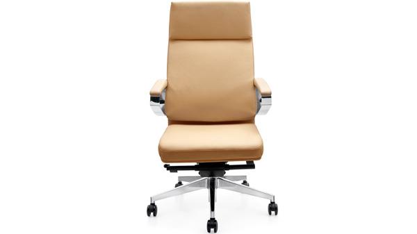 现代时尚升降调节真皮老板椅靠背带轮子厂家