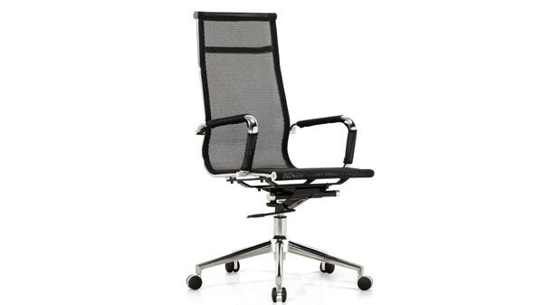 黑色升降调节高度旋转网布电脑椅子转椅带轮子