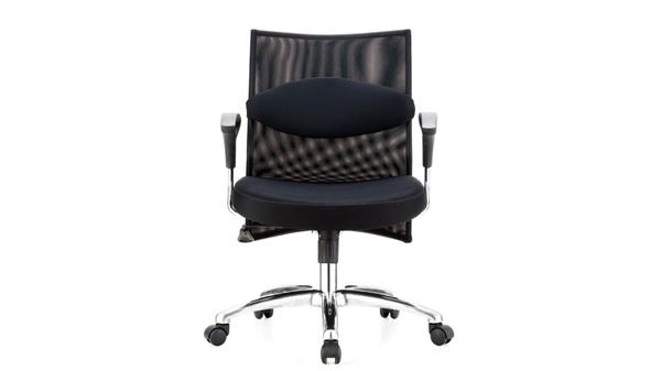 黑色网布透气升降调节高度电脑椅子转椅带轮子