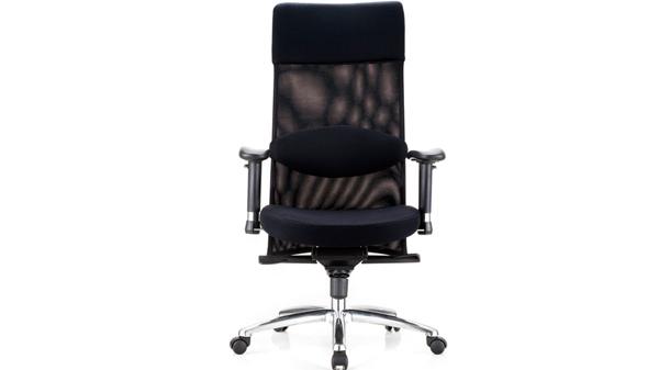 黑色升降调节高度网布电脑椅子带轮子扶手转椅