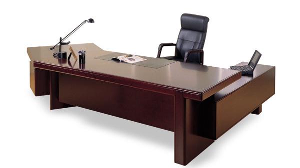 新中式实木老板办公桌椅大班台