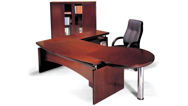 中式复古实木老板办公桌椅大班台