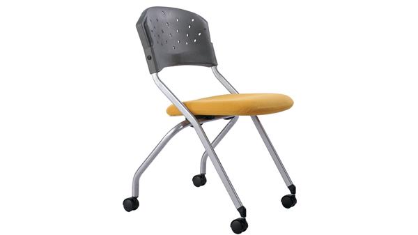 移动折叠塑料培训椅会议椅