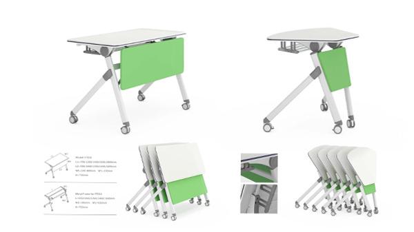 简易简约多功能可移动长条培训折叠会议桌