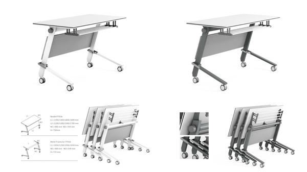 简易长条形可移动折叠会议桌培训桌课桌