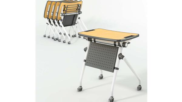 简易可移动钢架折叠会议桌培训桌课桌
