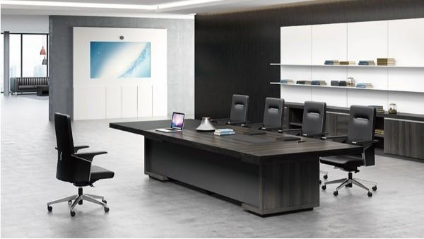 现代高档长条10人油漆实木办公室会议桌会议台洽谈桌厂家定制