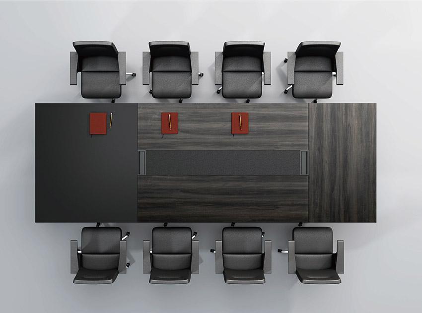 现代高档长条10人油漆实木会议桌