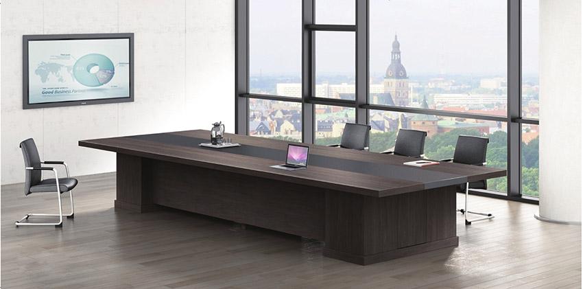 现代简约长条12人实木油漆会议桌会议台洽谈桌价格批发