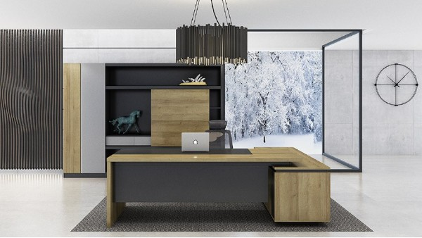 现代简约性价比高板式老板办公桌椅大班台