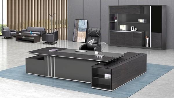 现代时尚高端板式老板办公桌椅大班台