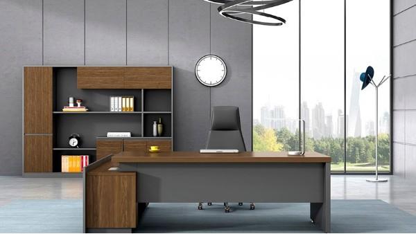 现代时尚实木老板办公桌椅大班台