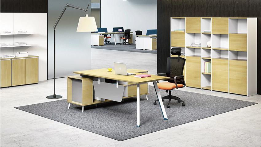 现代时尚简约专业优质省钱口碑好女老板板式办公桌椅价格批发定做