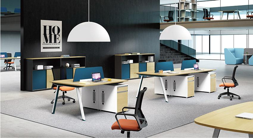 现代时尚两人员工屏风办公桌隔断工作卡位