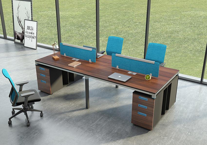 开放式四人屏风办公桌隔断工作卡位