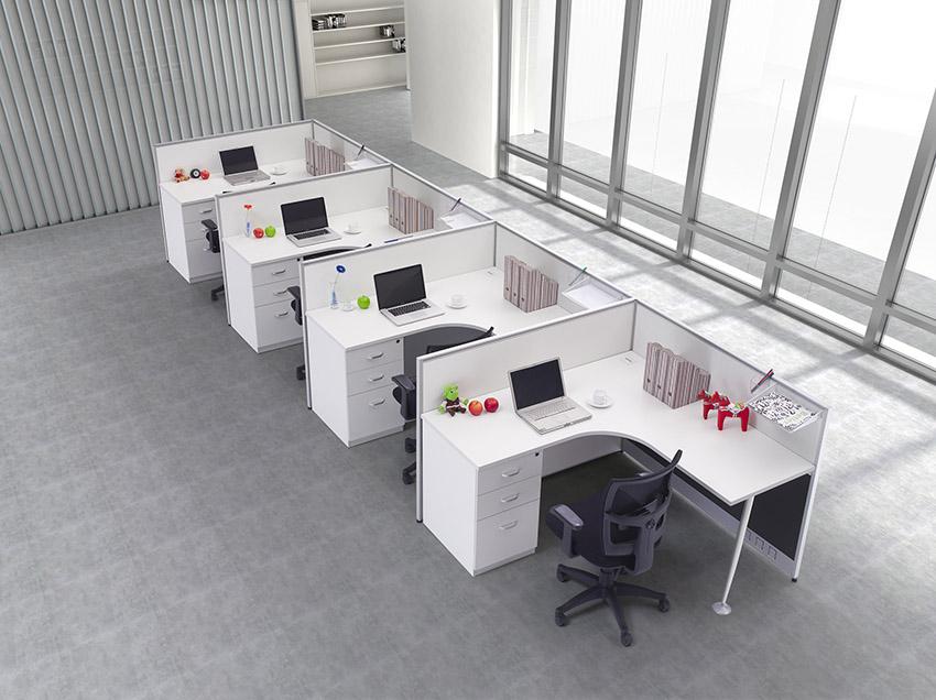 简约1型转角四人屏风办公桌隔断 屏风工作位 屏风卡位厂家价格定做