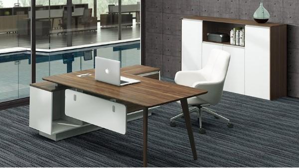 现代时尚简约板式老板经理办公桌椅办公台大班台写字台定制