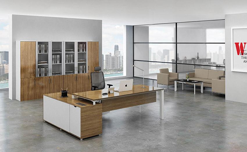 简约时尚板式老板办公桌大班台