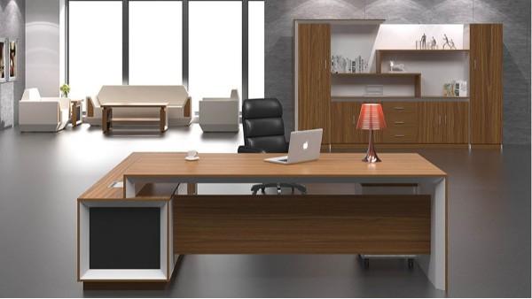 现代时尚板式老板办公桌大班台