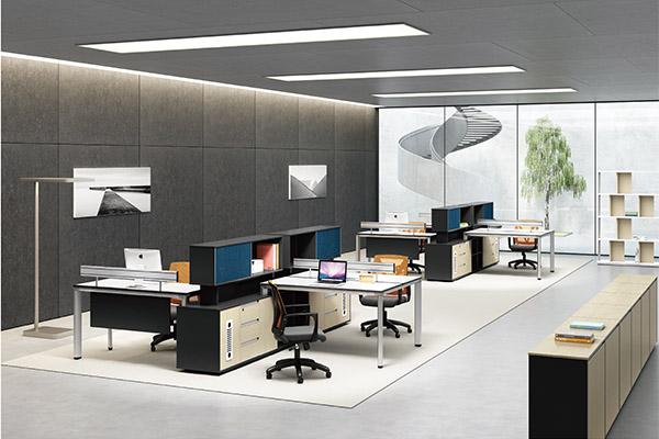 屏风教师办公桌厂家,屏风隔断卡位办公桌定制