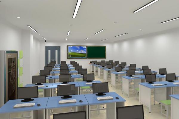 智慧教室实验室设计办公卡位桌椅