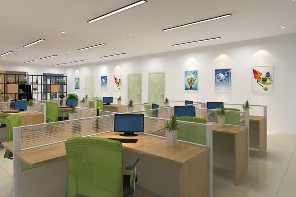 创业孵化基地实验室设计屏风办公桌椅