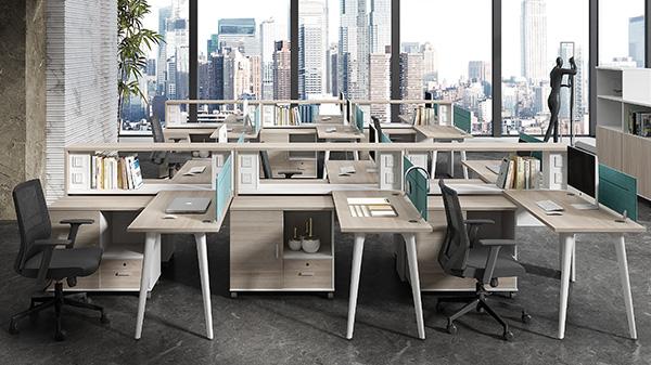 时尚简约多人组合屏风办公桌