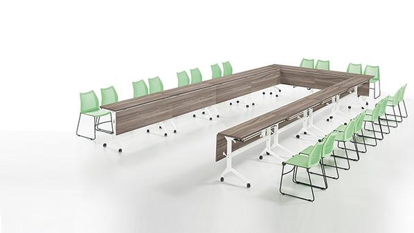 简约系列钢木会议桌