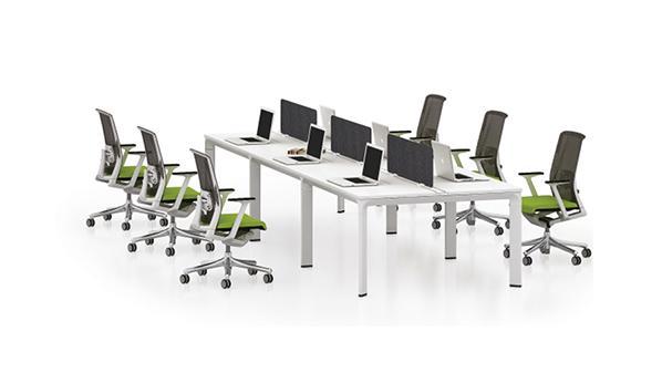 时尚简约六人板式屏风隔断办公桌工作卡位
