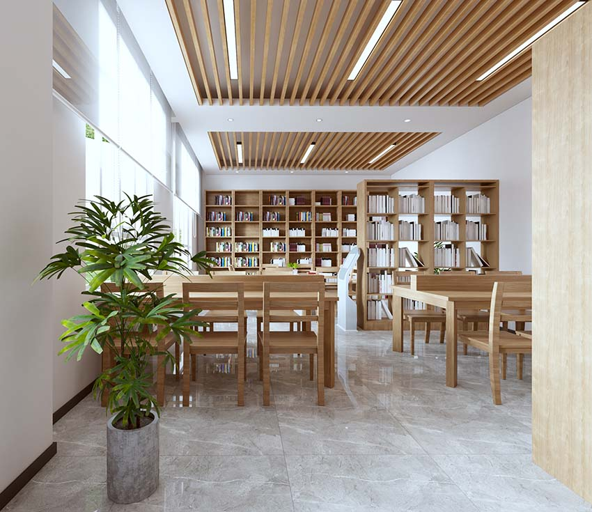 图书馆书柜-图书馆桌椅