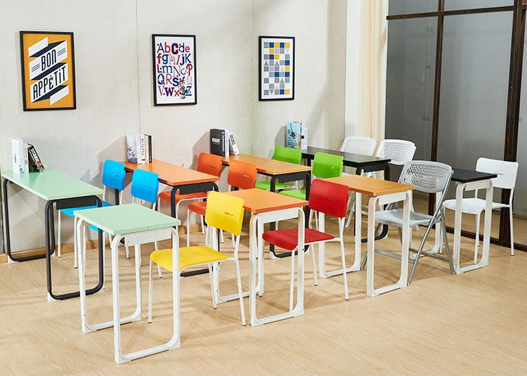 钢木学生课桌椅 培训桌椅 价格实惠