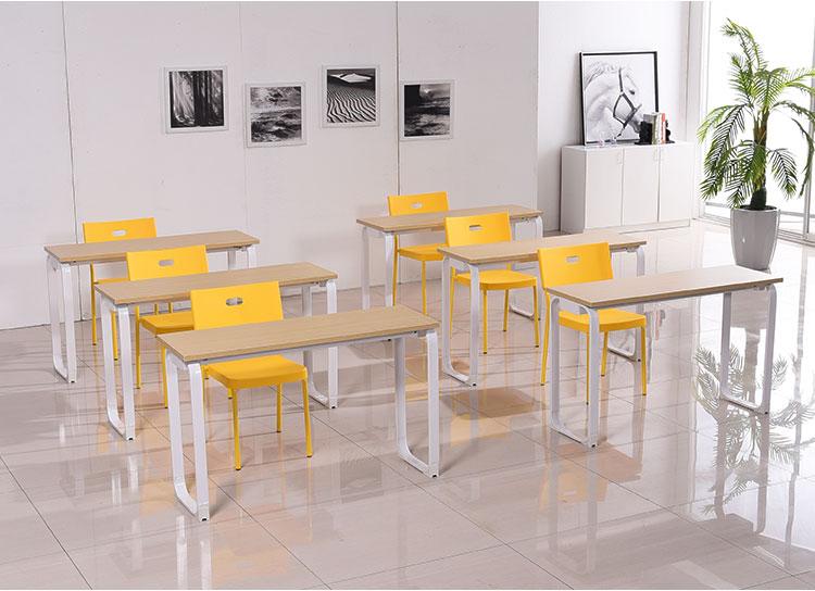 钢木学生课桌椅 培训桌椅