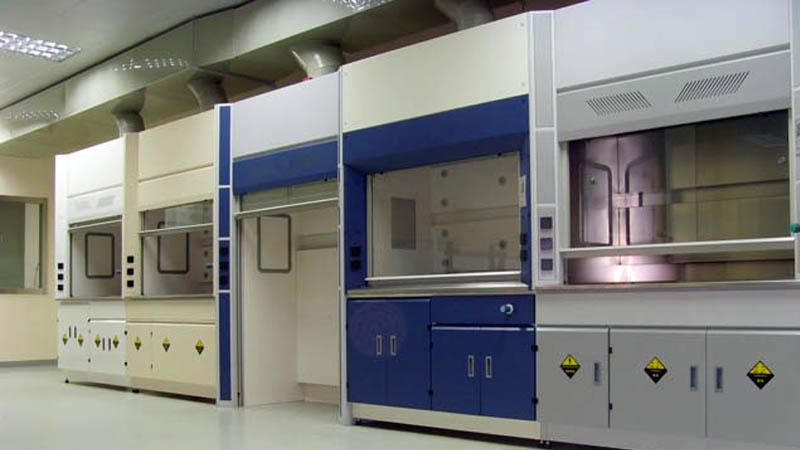 全钢钢制钢木结构pp通风柜化学实验室通风柜排风通风橱价格定制