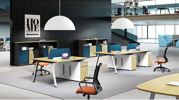 现代时尚两人员工屏风办公桌隔断