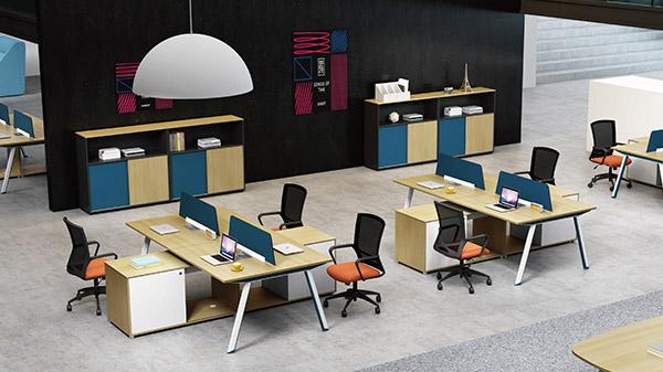 现代时尚四人屏风办公桌