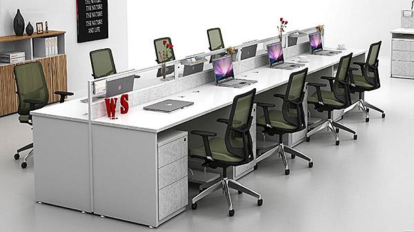 时尚直型8人屏风办公桌隔断