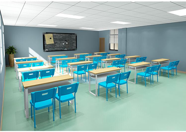 学校钢木学生课桌椅