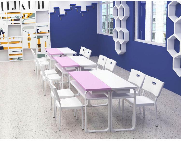 钢木学生课桌椅 定制