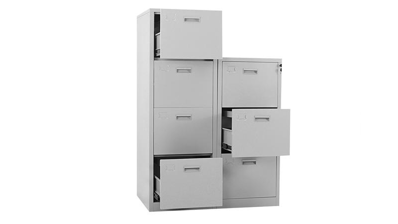 办公钢制文件柜带钥匙带抽屉价格定制