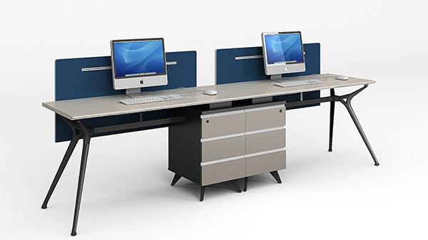 现代时尚简约开放式两人组合屏风隔断办公桌