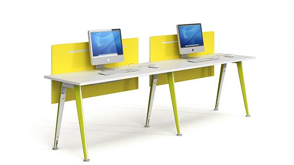 现代时尚简约开放式双人组合屏风办公桌隔断工作卡位