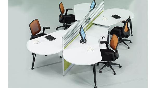 简约时尚四人组合屏风办公桌隔断