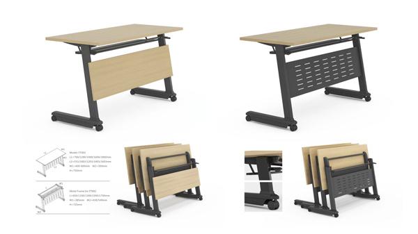 简易长条可移动钢架折叠会议桌培训桌课桌