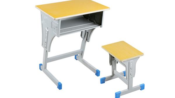 学校幼儿园单人钢木学生课桌椅厂家批发定制