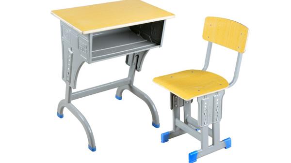 学校升降钢木小学生课桌椅批发生产厂家定做