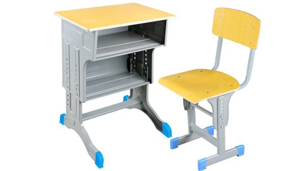 学校升降钢木小学生课桌椅批发价格定制厂家